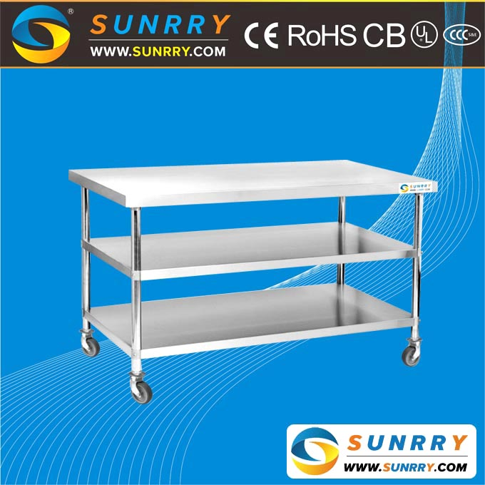 Stainless steel restaurant mobile dining work table for sale