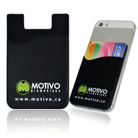 adhesive silicone mobile phone card holder wallet