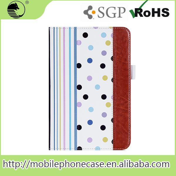 New Sublimation Printing Design With Cardslots And Strap PU Leather Tablet Cover For iPad Mini 4