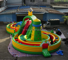 Promotional 8 Shape Inflatable race track/Sports challenge Obstacle Course/Outdoor Playground Equipment Inflatable Maze