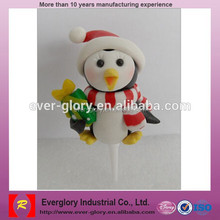 Customize Christmas cake decoration toys,plastic cake plug-in toys for promotion