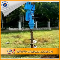 Excavator used hydraulic drilling machine, 200mm earth auger