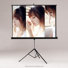 Manual Tripod Portable Projection Screen , Floor Pull UP Projector Screen , Tripod Projection Screen
