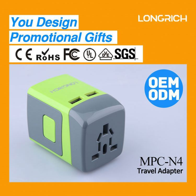 promotional gifts usb car charger adapter,audio ac power plug