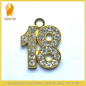 18 Gold Blings/rhinestones Charm For Graduation