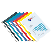 PP Cover A4 Report File+plastic fastner+pocket from factory