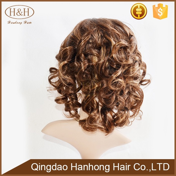 spring curly style 100 remy hair wholesale cheap human hair full lace cosplay wig