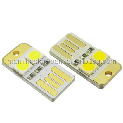 Mini USB / Computer keyboard LED lights Source both sides connect with 5V USB female dc Mobile power bank 24mm*12mm*2mm