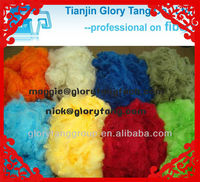colored & dyed hollow conjugated siliconized polyester fiber