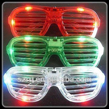 hundred leaf window led flashing sunglasses with multi color
