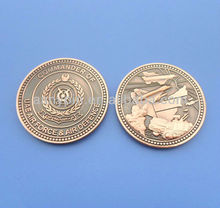Antique gold plated coin,aged brass coins