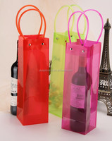 Beauty Color Clear Pvc Plastic Ice Bag For Wine