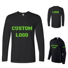 Wholesale high quality cheap custom logo <strong>100</strong>% cotton men long sleeve t-shirt printing