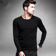 custom blank lycra cotton close-fitting desin long sleeve t shirt for men