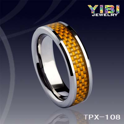 Dress Wholesale Tungsten Carbide Rings Carbon Fiber FJ Jewelry