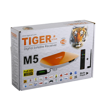 Tiger Star M5 dvb s2 DIgital Satellite Receiver full hd box support IPTV and iks