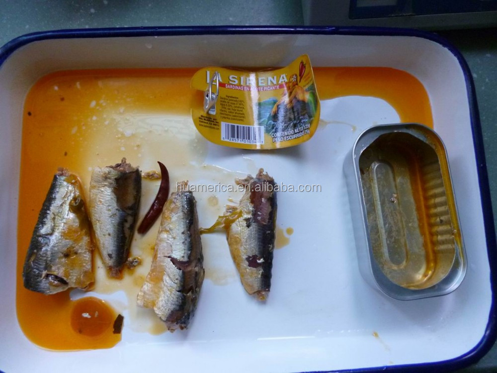 125g Canned Sardine in vegetable oil with Chili
