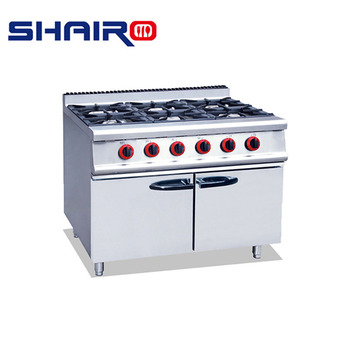 Sale Industrial Co Ng Range Free Standing Gas Stove 6 Burners Industrial Stove Gas Burner
