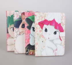 cute cartoon leather case for ipad mini