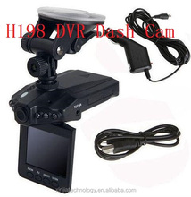 270 degree rotation 6LEDS H198 1080p car dvr portable dvr with 2.5 tft lcd screen driver