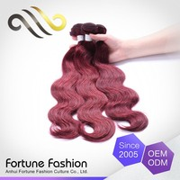 Wholesale Clean And No Smell Dark Remy Indian Purple Red Hair Dye Weave