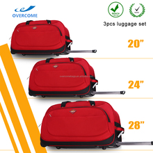 3PCS Poly luggage Bag travel luggage sets with high quality
