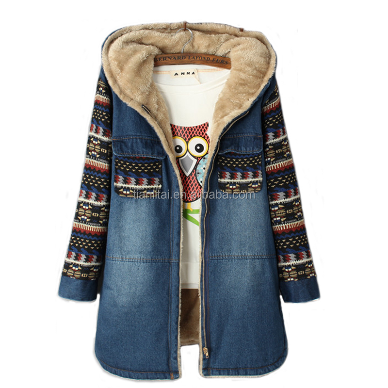 Winter Women Cashmere Wadded Jacket Female Outerwear Plus Size Thickening Casual Denim Cotton Coat girls Hoodies Parkas