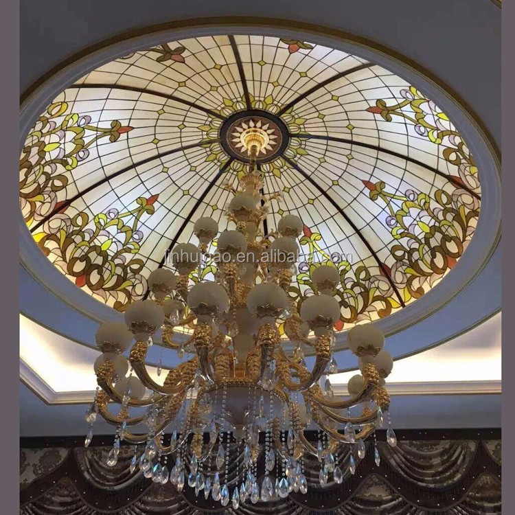 Australia stained glass skylight tiffany glass ceiling dome for home decor