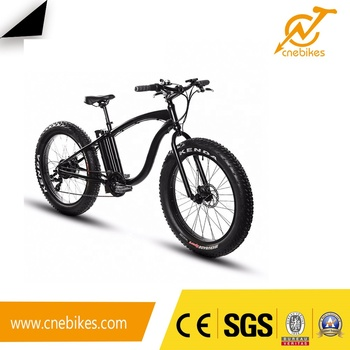 Fat tire beach electric bicycle 7 speed 48v 500w e-bike