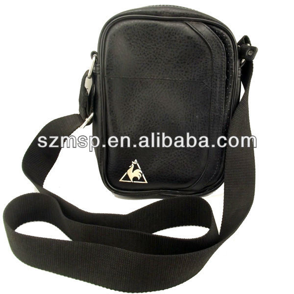Utility designed man's cross-body shoulder bag