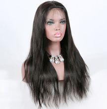 Premier factory wholesale brazilian virgin human hair full lace wig with natural hair line