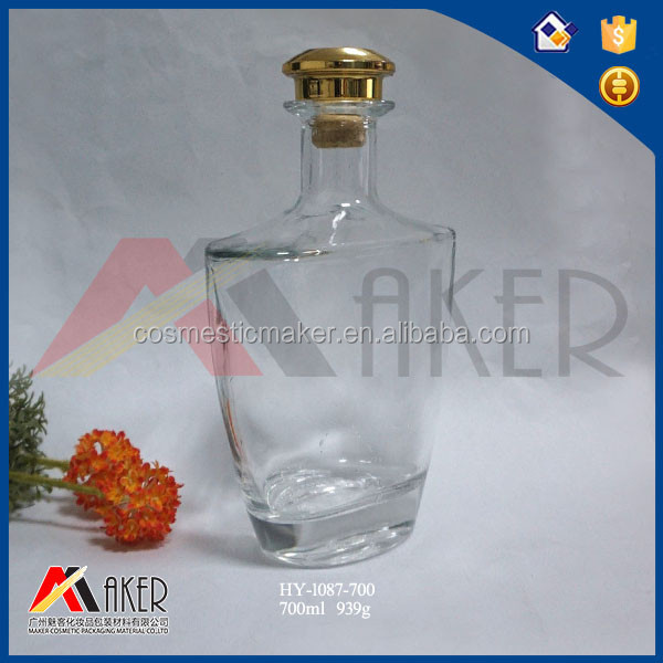 700ml 750ml Glass Wine Liquor Bottle