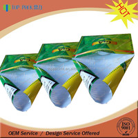 Custom printed self-adhesive hand rolling plastic tobacco pouch packaging bag