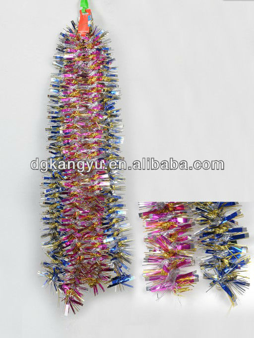 HOT SALE ! New Design Christmas Tinsel Stars Wired Garlands