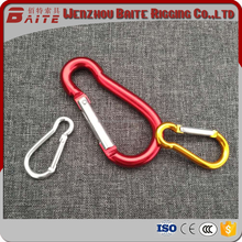 ALUMINUM MULTICOLOR RIGGING ACCESSORY SNAP HOOK CARBINE TYPE