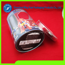 wonderful artwork printed plastic tube packaging cylinder for christmas candy