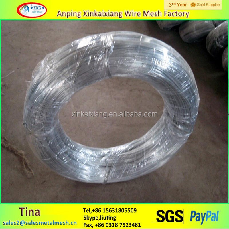 Alibaba china galvanized iron wire/hot dip galvanized wire 100kg coil(GI wire manufacturer )