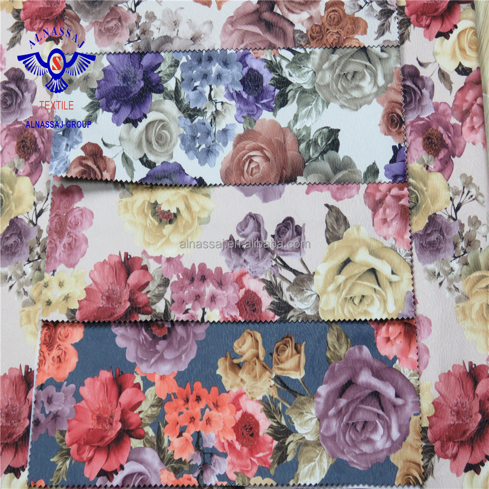 Amazing Flower Design Home Textile Floral Large Print Curtain Fabric
