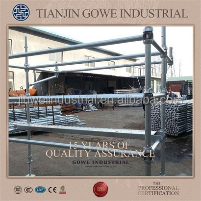 best prices Q235 painted or HDG cuplock scaffolding for constructionhot sale Q235 painted or HDG cuplock scaffold made in Tianji