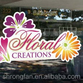 PVC Vinyl Sticker Decals Printing,Removable Static Cling Window Film,Digital Printing Static Cling Stickers