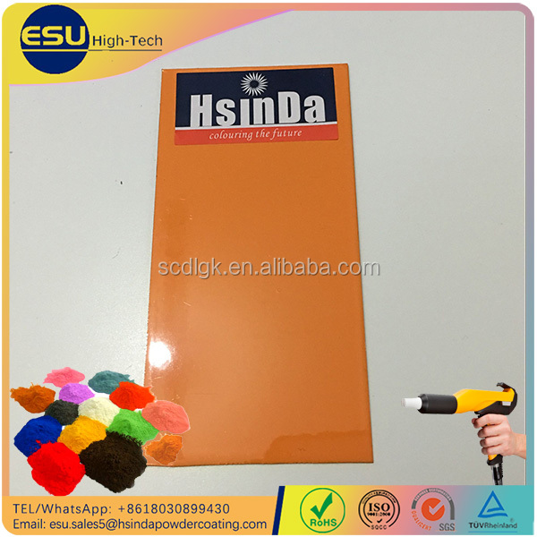 High Quality Pantone Color Chart Gloss Orange Powder Coating