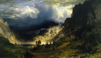 Storm in the Rocky Mountains High Quality Classic Landscape Paintings