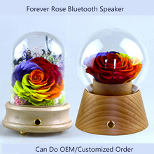 Wholesale Forever Big Rainbow Rose Bluetooth Speaker Creative Promotion Gift Mothers Day Gifts