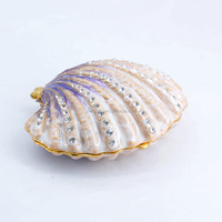 2014 new seas and oceans style shell wholesale jeweled trinket box (M4423-1)