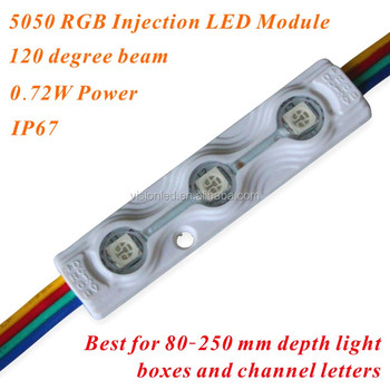SMD 5050 0.72W RGB Injection LED Module