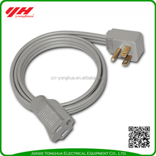 UL ETL 125V ac power cord cable/ ac power extension cord