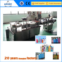 100ml plastic round bottle and square bottles filling capping and labeling machine from chinese manufacturing suppliers