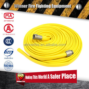 1inch Rubber Covered Fire Hose Coupled with Aluminum Coupling