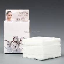 100%rayon or viscose nonwoven fabric cosmetic cotton pads for facial skin cleaning make up remover