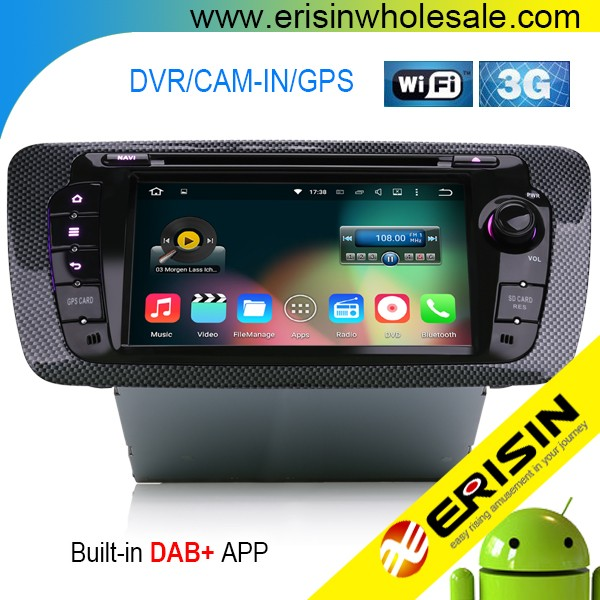 Erisin ES4010S 2 Din 7 inch Car GPS Navigation for SEAT IBIZA 2013